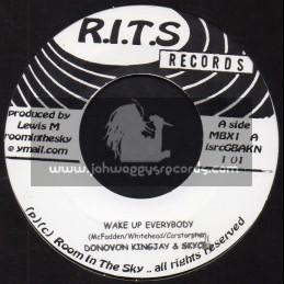 """R.I.T.S-7""""-Wake Up Everybody / Donovan Kingjay And Skycru + Heavy Load / Skycru And Kingsley"""