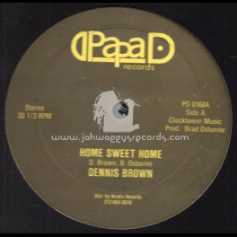 """Papa D Records-12""""-Home Sweet Home / Dennis Brown + Going Home"""