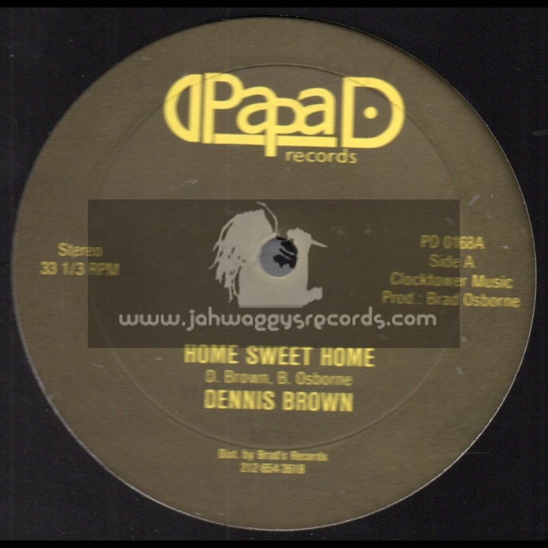 "Papa D Records-12""-Home Sweet Home / Dennis Brown + Going Home / Papa Iron And Dubwise"
