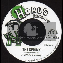 """Horus Records-7""""-The Sphinx / J Moody And Horus + The Terrifying One / J Moody And Horus"""