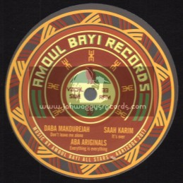 "Amoul Bayi Records-12""-Dont Leave Me Alone / Daba Makourejah + Its Over / Saah Karim + Everything Is Everything / Aba Ariginals"