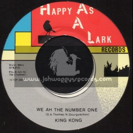 """Happy As A Lark Records-7""""-We Ah The Number One / King Kong + Give Praises / Jahdan Blakkamoore"""