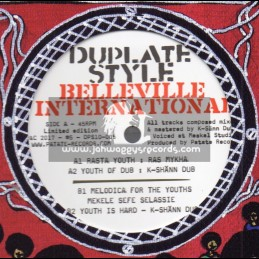 "Belleville International-Dubplate Style-10""-Rasta Youth / Ras Mykha - Limited Edition"