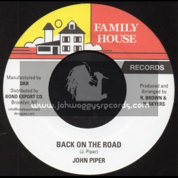 "Family House Records-7""-Back On The Road / John Piper"