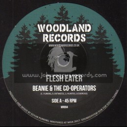 """Woodland Records-7""""-Flesh Eater / Beanie & The Co-Operators"""