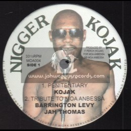 "Moa Anbessa International-10""-Penitentiary/Kojak+Tribute To Moa Anbessa/Barrington Levy+Living In The Ghetto/Delton Screechie"