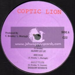 """Coptic Lion-12""""-Irie I / Bunny Lie Lie + Healing / Sycorah"""