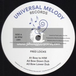 "Universal Melody Records-12""-Bow to HIM / Fred Locks + Power Of The King / I-David"